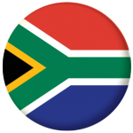 South Africa Country Flag 25mm Flat Back